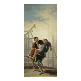 Francisco Goya- The Injured Mason Rack Card