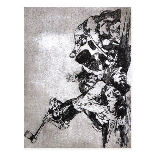 Francisco Goya, The same From Los desastres de la  Postcard