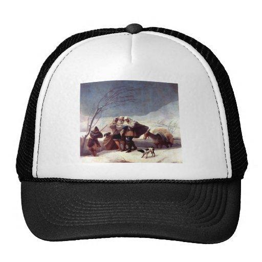 Francisco Goya- The Snowstorm (Winter) Trucker Hat
