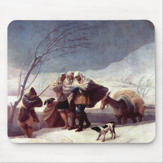 Francisco Goya- The Snowstorm (Winter) Mousepads