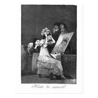 Francisco Goya- Till death Postcard