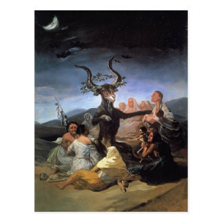 Francisco Goya- Witches Sabbath Postcard
