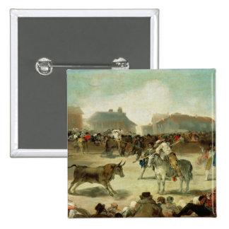 Francisco Jose de Goya | A Village Bullfight 15 Cm Square Badge