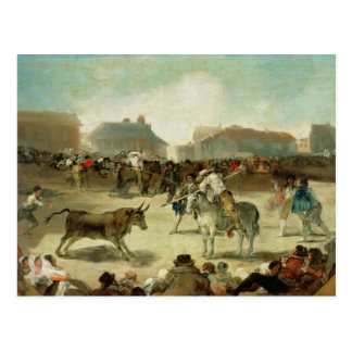 Francisco Jose de Goya | A Village Bullfight Postcard