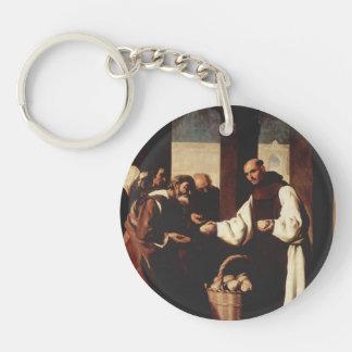 Francisco Zurbaran-Mercy of Fra Martin de Vizcaya Single-Sided Round Acrylic Keychain
