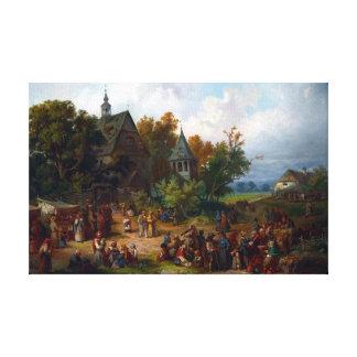 Franciszek Kostrzewski Rural Kermesse Canvas Print