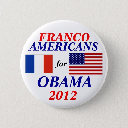 Franco americans for Obama 6 Cm Round Badge