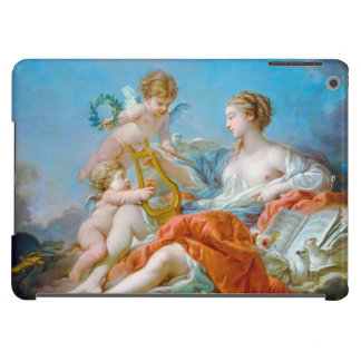 francois boucher allegory of music rococo lady art cover for iPad air