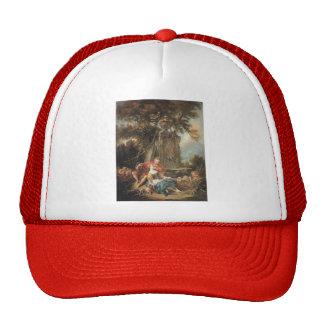 Francois Boucher - An Autumn Pastoral Mesh Hats