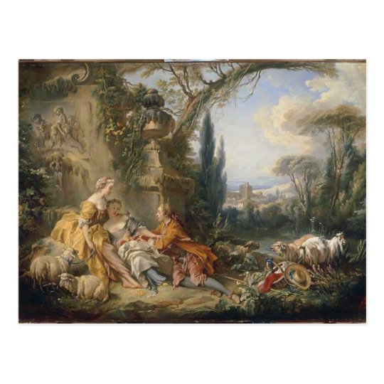 Francois Boucher - Charms of Country Life Postcard