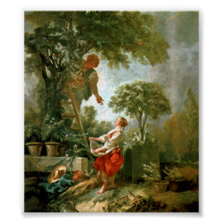 Francois Boucher - Kirschpfluckerin-landscape Poster