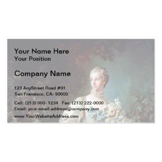 Francois Boucher - Madame Bergeret Business Card Template