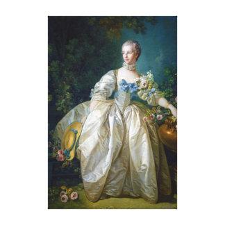 FRANCOIS BOUCHER - MADAME BERGERET portrait art Canvas Prints