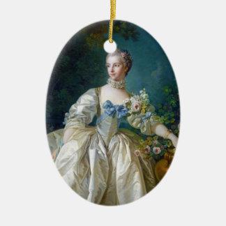 FRANCOIS BOUCHER - MADAME BERGERET portrait art Ceramic Oval Decoration