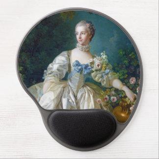 FRANCOIS BOUCHER - MADAME BERGERET portrait art Gel Mouse Pad
