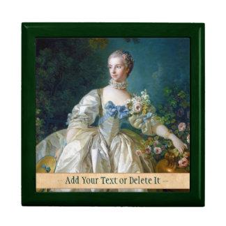 FRANCOIS BOUCHER - MADAME BERGERET portrait art Large Square Gift Box