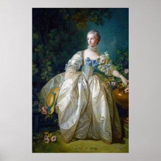 FRANCOIS BOUCHER - MADAME BERGERET portrait art Print