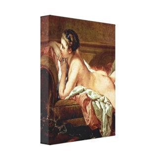 Francois Boucher - Mistress to Louis XV Stretched Canvas Prints