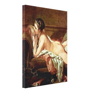 Francois Boucher - Mistress to Louis XV Gallery Wrap Canvas