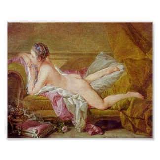 Francois Boucher - Mistress to Louis XV Poster
