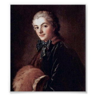 Francois Boucher - Portrait of a Lady with Muff Poster