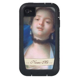 Francois Boucher Portrait of Young Woman lady art iPhone4 Case