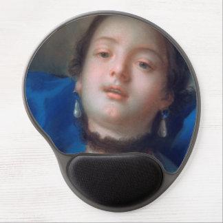 Francois Boucher Portrait of Young Woman lady art Gel Mouse Pad