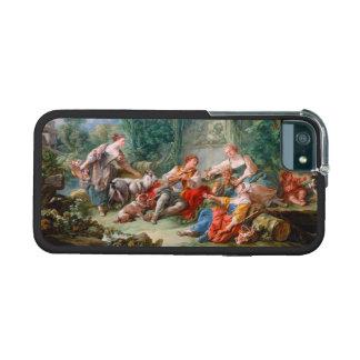 francois boucher shepherd s idyll rococo scenery iPhone 5/5S covers
