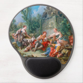 francois boucher shepherd s idyll rococo scenery gel mouse pad