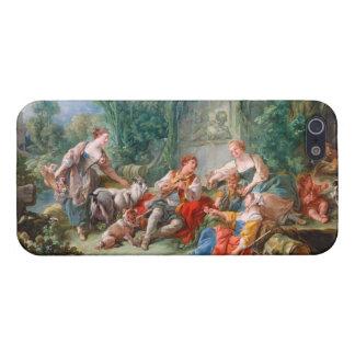 francois boucher shepherd s idyll rococo scenery iPhone 5 case