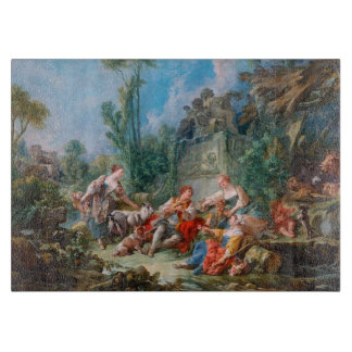 francois boucher shepherd's idyll rococo scenery cutting boards