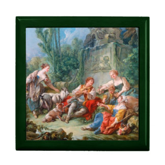 francois boucher shepherd's idyll rococo scenery large square gift box