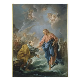 Francois Boucher - St. Peter Invited to Walk Postcard