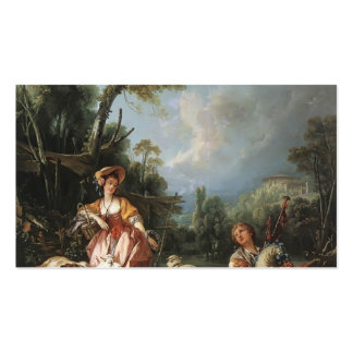 Francois Boucher - Summer Pastoral Double-Sided Standard Business Cards (Pack Of 100)