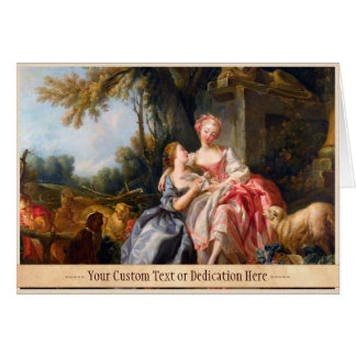 Francois Boucher The Billet Dou rococo ladies art Stationery Note Card