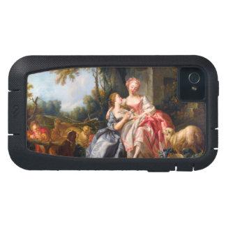 Francois Boucher The Billet Dou rococo ladies art iPhone4 Case