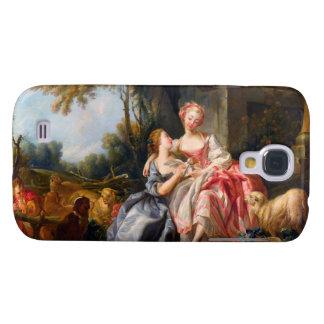 Francois Boucher The Billet Dou rococo ladies art Galaxy S4 Case