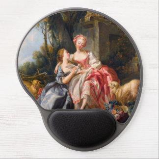 Francois Boucher The Billet Dou rococo ladies art Gel Mouse Pad
