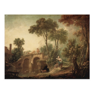 Francois Boucher - The Bridge Postcard