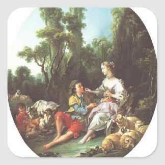 Francois Boucher - They Thinking About the Grape Square Sticker