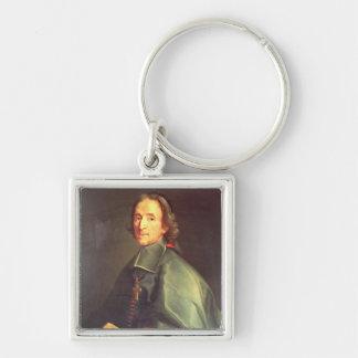 Francois de Salignac de la Mothe-Fenelon Silver-Colored Square Key Ring