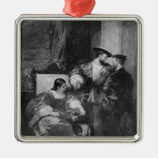Francois I and Anne de Pisseleu Christmas Ornament