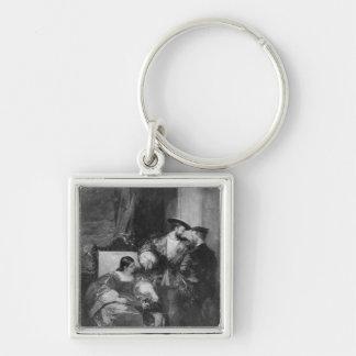 Francois I and Anne de Pisseleu Key Ring