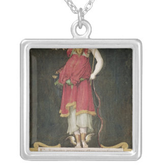 Francois I  as a composite deity Silver Plated Necklace