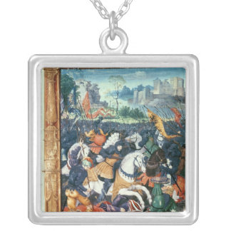 Francois I  at the Battle of Marignano Silver Plated Necklace