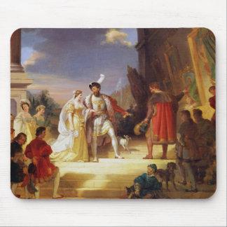 Francois I  with Leonardo da Vinci Mouse Pad