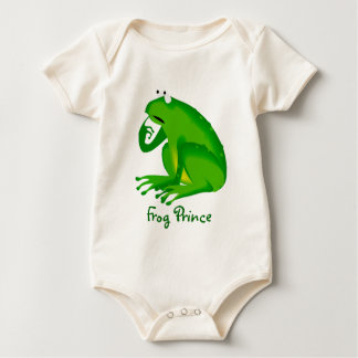 François the Cartoon Frog Baby Bodysuit