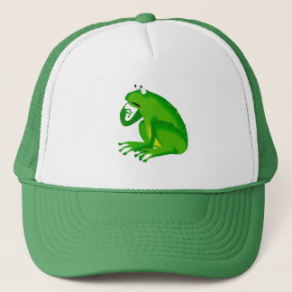 François the Cartoon Frog Trucker Hat