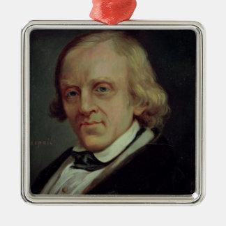 Francois Vincent Raspail  1849 Silver-Colored Square Decoration