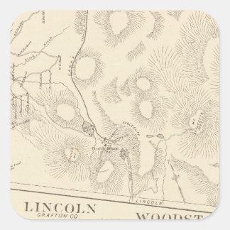 Franconia, Lincoln, Woodstock Square Sticker